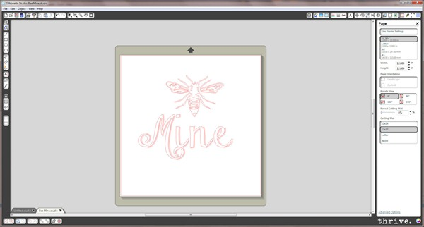 "Free ""Bee Mine"" Silhouette cutting file available by emailing choosetothriveblog@gmail.com"