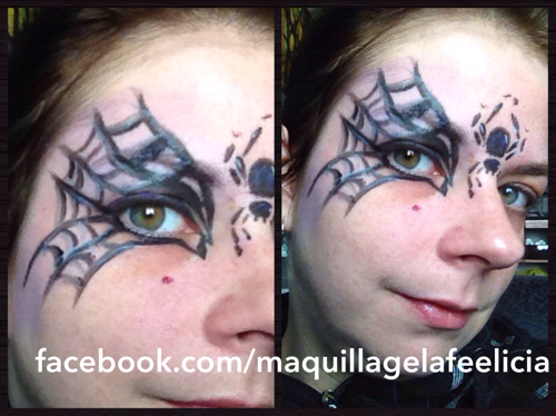 Spider woman sexy spider web face painting