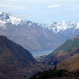 Looking Back Towards Queenstown - Skippers Lookout, New Zealand