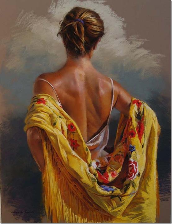 El mantón amarillo...-German-Aracil-Enkaustikos