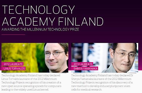 A Linus Torvalds il premio Millennium Technology Prize 2012