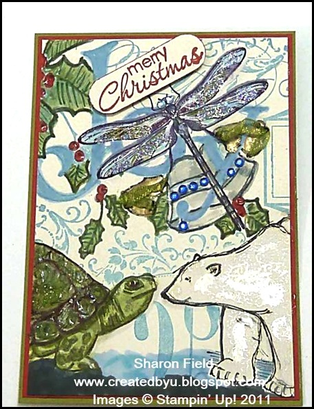 1.christmas animals collage atc
