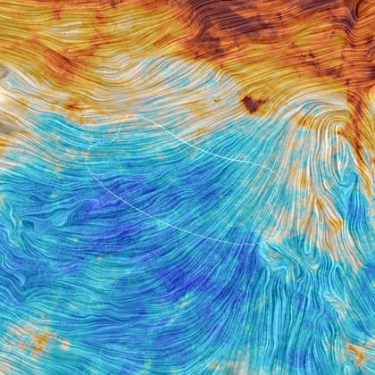 orientação do campo magnético galáctico