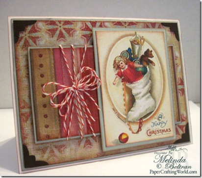 vintage stocking card idea 500