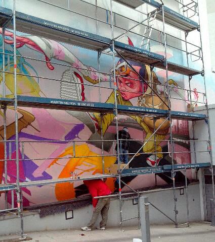 Graffiti Künstler buchen für Fassadenbemalung