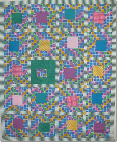 hearts and squares baby quilt