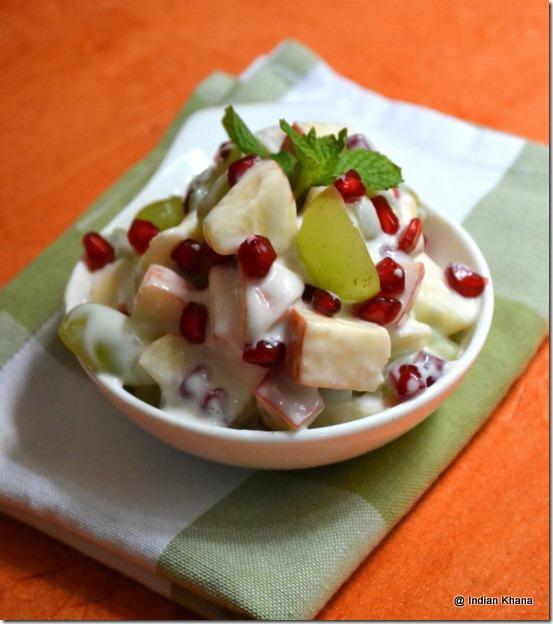 Easy vrat navratri recipes fruit salad in yogurt recipe