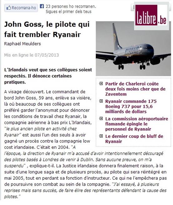 Raynair La Libre Belgique