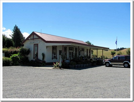The old Domett railway station. Now a roadside cafe.