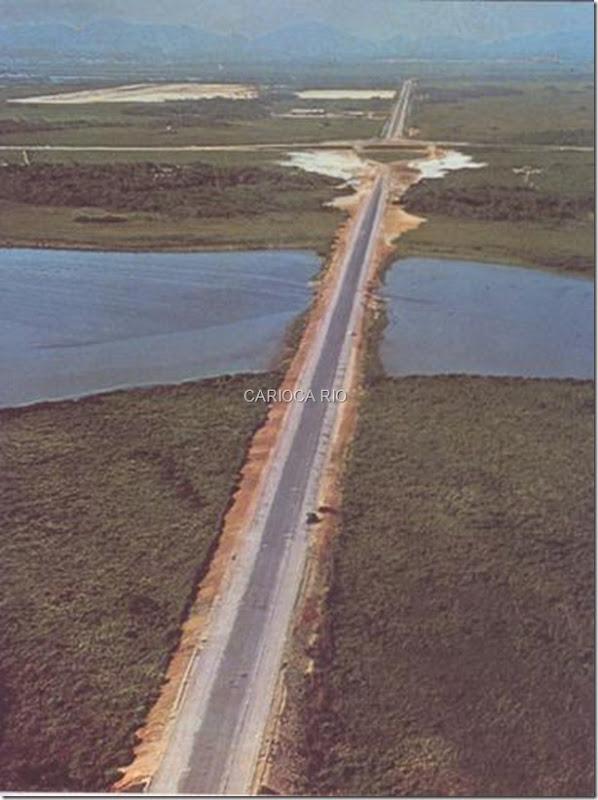 Avenida Aryton Senna com a Avenida das Américas, Barra da Tijuca - 1968
