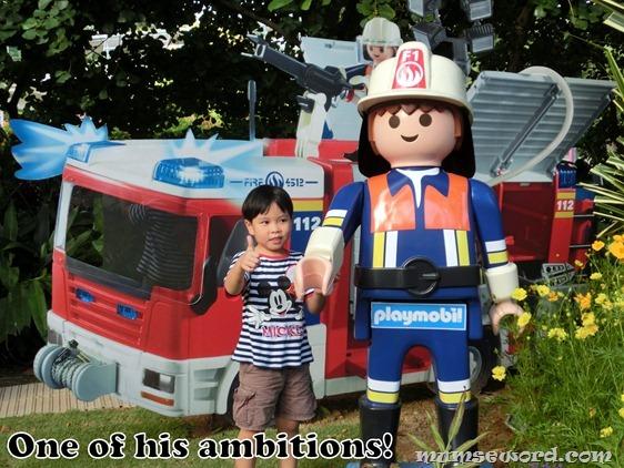 Playmobil Fireman Lifesize