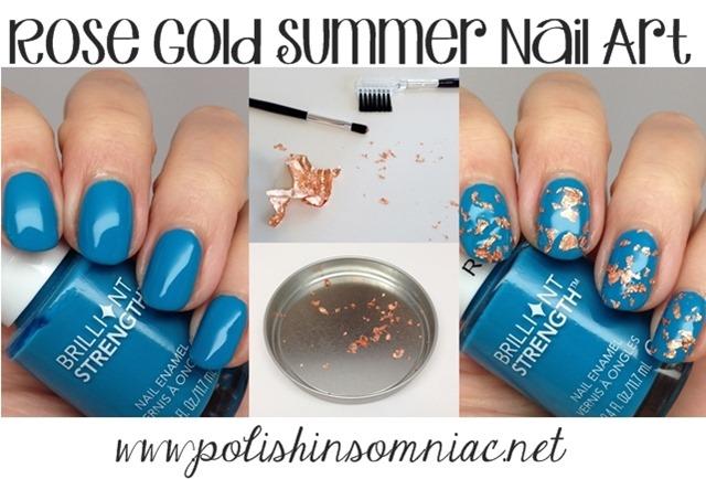 Summer Inspired Rose Gold Nail Art - Step by Step #walgreensbeauty #shop #nailart
