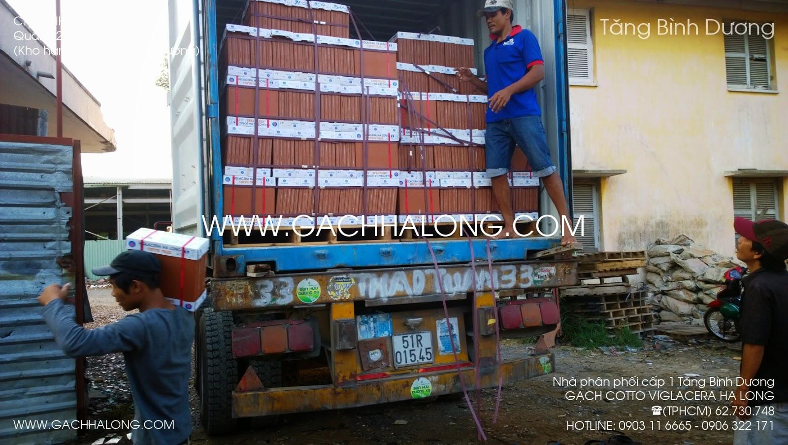 xe container xuong hang gach lat ha long