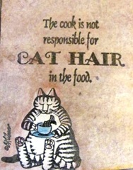 ATC Kliban cat.cook is not responsible