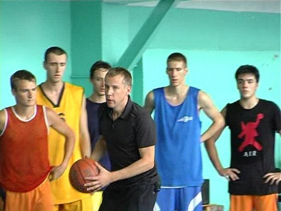 Мастер-класс по баскетболу Дмитрия Базелевского в Алчевске