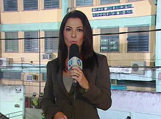 """Ana Paula Padrão do """"Jornal da Record"""" - Foto: Reprodução/TV Record"""