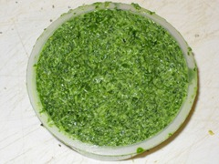 finished watercress butter