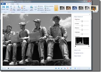 Windows Photo Gallery - Effects