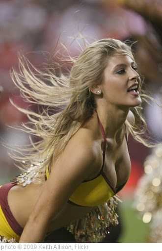 'Washington Redskins Cheerleader' photo (c) 2009, Keith Allison - license: http://creativecommons.org/licenses/by-sa/2.0/
