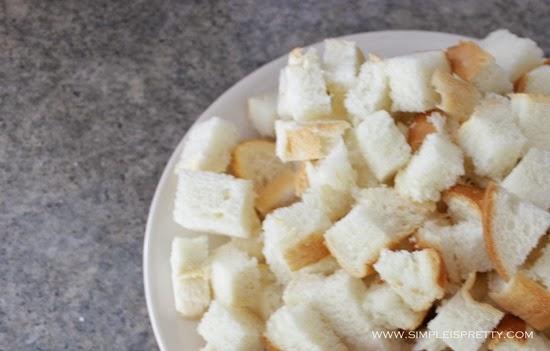 Bread cubes from www.simpleispretty.com