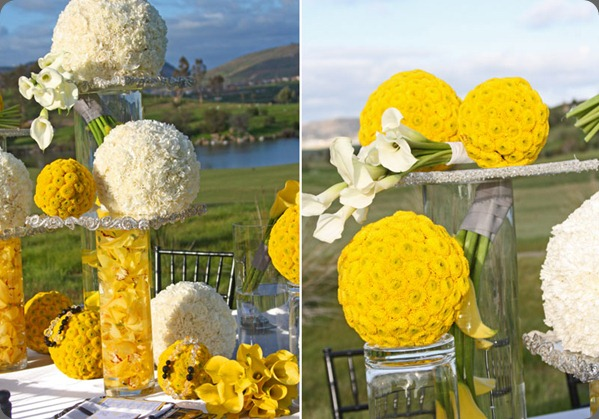 Yellow-and-white-floral-spheres-wedding karen tran