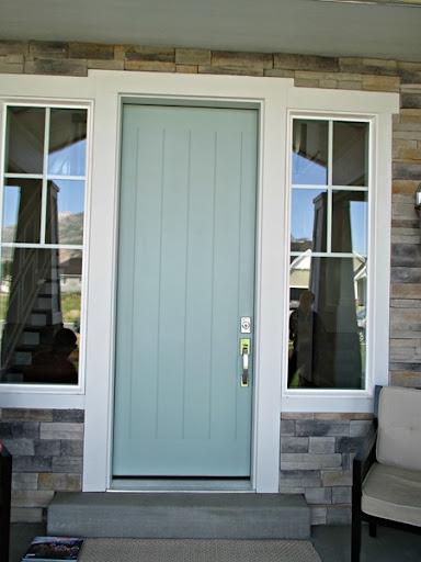 Green Trance by Sherwin Williams - front door paint color ... & Favorite Paint Colors: Home Tours paint color scheme ideas