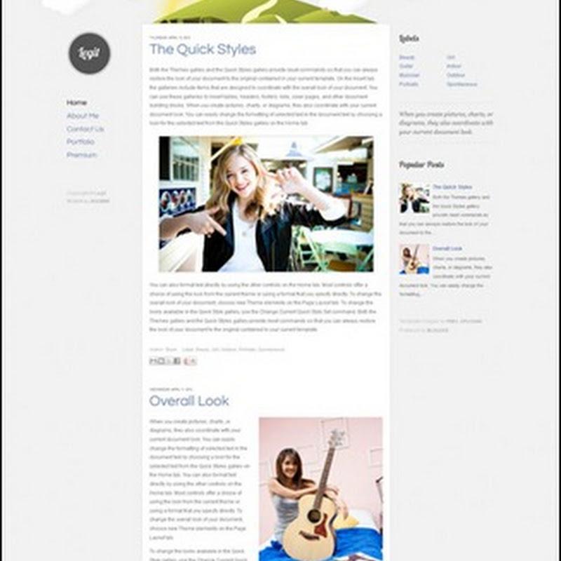Legit Blogger Teması [Animasyonlu Header]