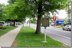 John Todd Stuart marker on Main Street, Danville, KY
