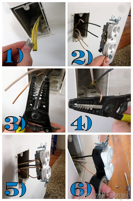 Wiring an outlet in 6 Easy steps {Sawdust and Embyos}