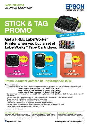 Epson LabelWorks Printers Promo