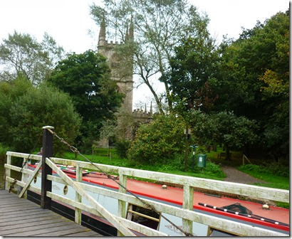 Hungerford church and swing bridge