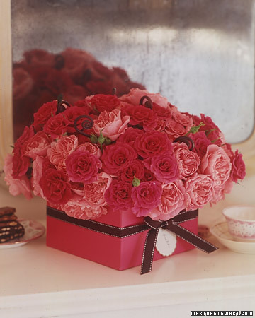 Roses in a Ribbon Box. (marthastewart.com)