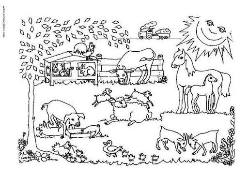 Animales de granja para pintar