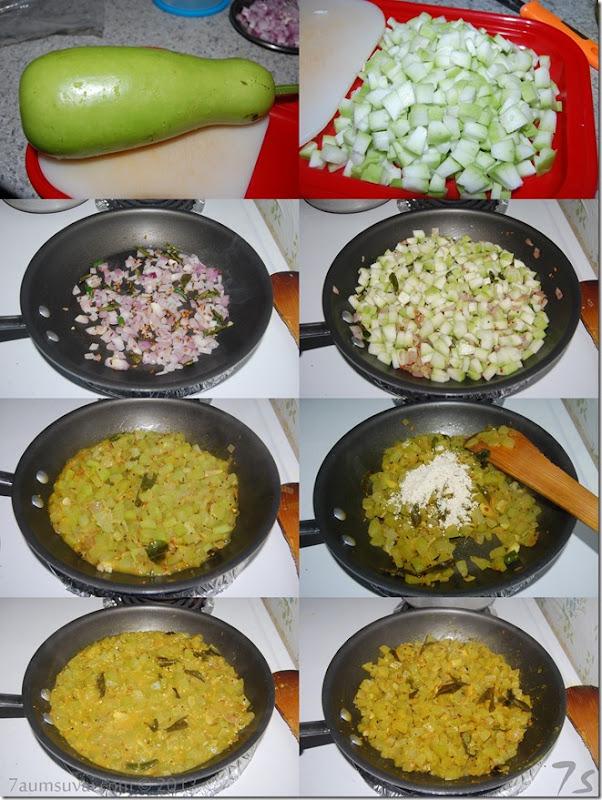 Suraikai curry process