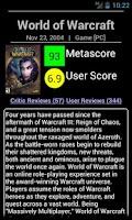 Screenshot of Metacritic Searcher