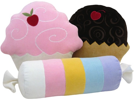 candies pillows