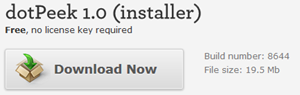 Download dotPeek 1.0 (Installer)
