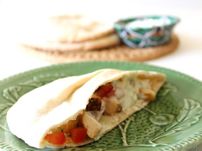 Chicken Pita & Greek Yogurt Sauce via homework (1)