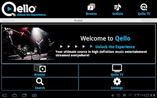 Screenshot of Qello for Tablet