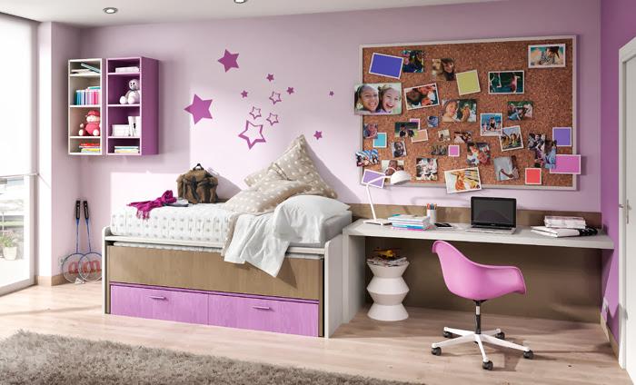 Pintar la habitaci n de los ni os - Pintar habitacion juvenil nina ...