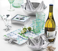 Starfish Serving Bowl $135.00 individual Bowls $48.00 Starfish Serving Set $48.00 Starfish Napkin Box $48.00 Seaweed Tray $58.00  Wine Cozy 44.00