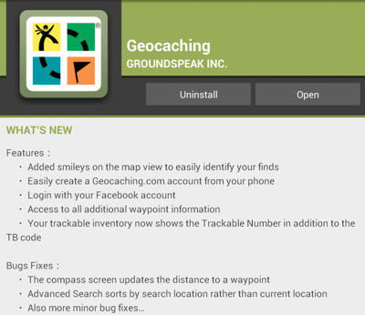 Geocaching 2.5 for Android