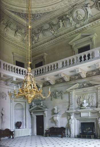 Stone Hall, with its incredible ceiling stuccowork by Giuseppe Artari, would have served as a banqueting hall. Imagine having a dinner party here!