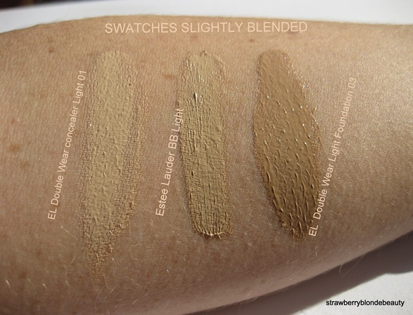 Estee Lauder BB Cream 01 Light swatch