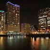 Chicago At Night - Chicago River Skyline