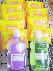 watsons mini wet wipes, watsons hand soap, bitsandtreats