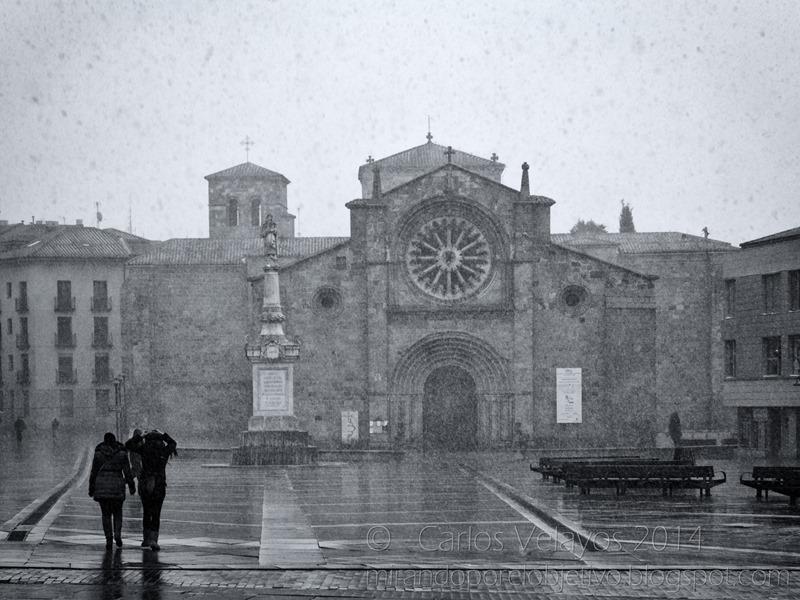 Nieva en la Plaza