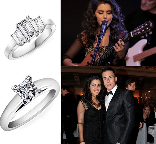 Katie Melua with Diamond Engagement Ring