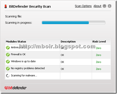 bitdefender security scan - mboir