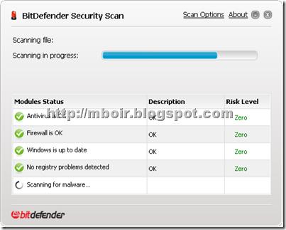 bitdefender security scan - mboir
